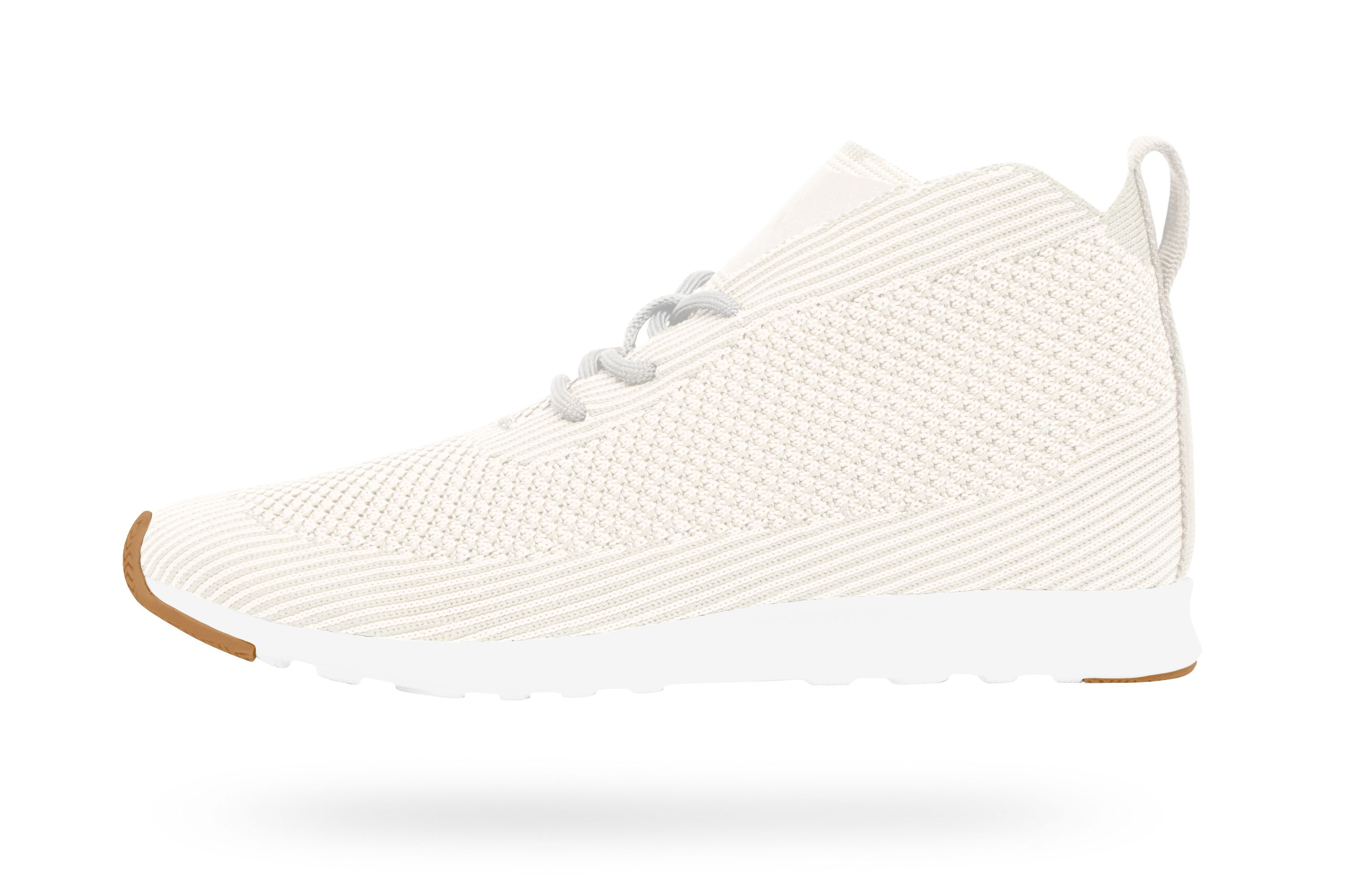 Rover Liteknit - Shell White / Natural Rubber | Native Shoes — Keep it Lite