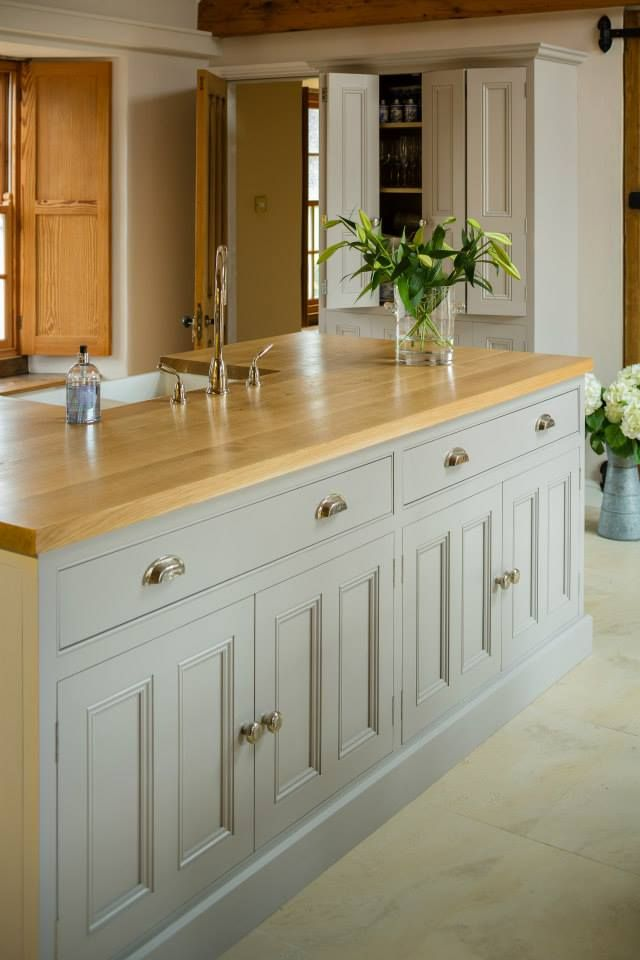 To Create Seamless Uniformity All The Units Were Made From Quebec Yellow Timber Hand Painted In Kitchen Cabinets Kitchen Cabinet Makers Kitchen Inspirations
