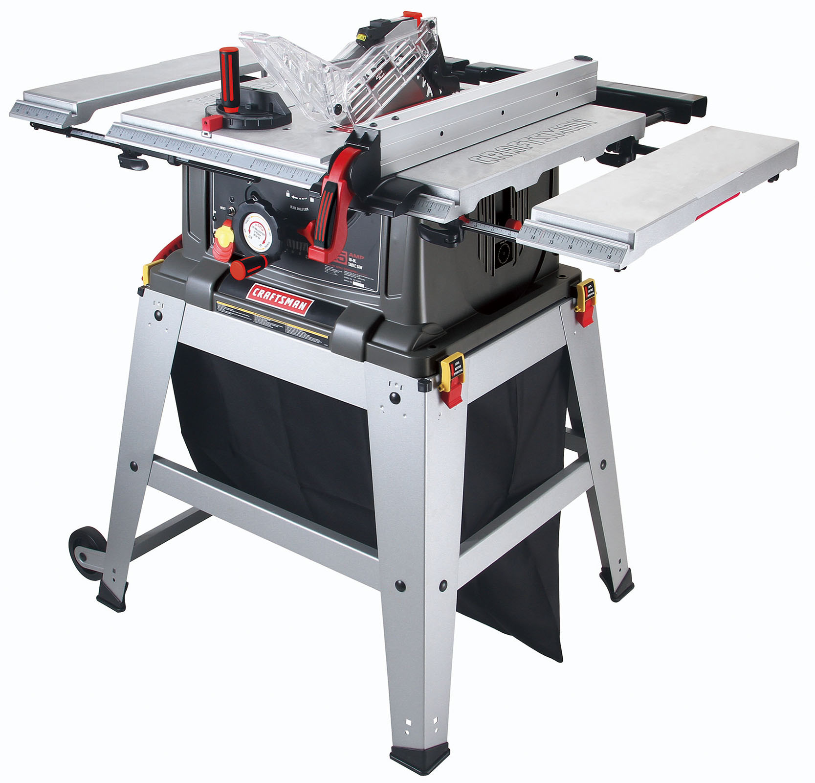 Craftsman 10 Table Saw With Laser Trac Sliver Grey Craftsman