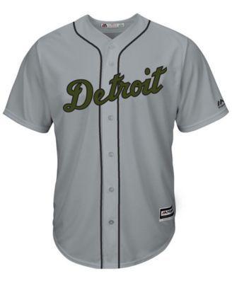 031902110 Majestic Men s Miguel Cabrera Detroit Tigers Usmc Cool Base Jersey - Gray S