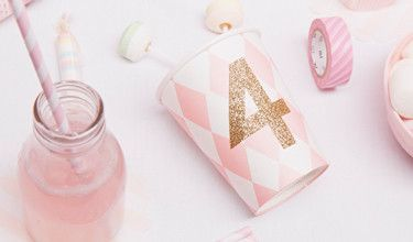 Cup with age. #glitter #number #pink
