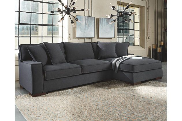Charcoal Gray Sectional Sofa With Chaise Lounge In 2020 Living