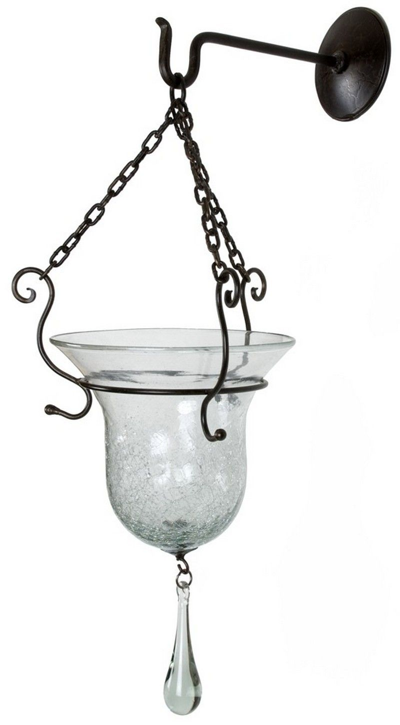 Red Label Vallarta Wall Planter With Drop & Iron Hook 4832 - Red Label Vallarta Wall Planter With Drop & Iron Hook 4832SKU: 4832Manufacturer: Red Label HomeCategory: Glass & IronFinish: GlassMaterial: Glass/IronDimensions: 22 x 22