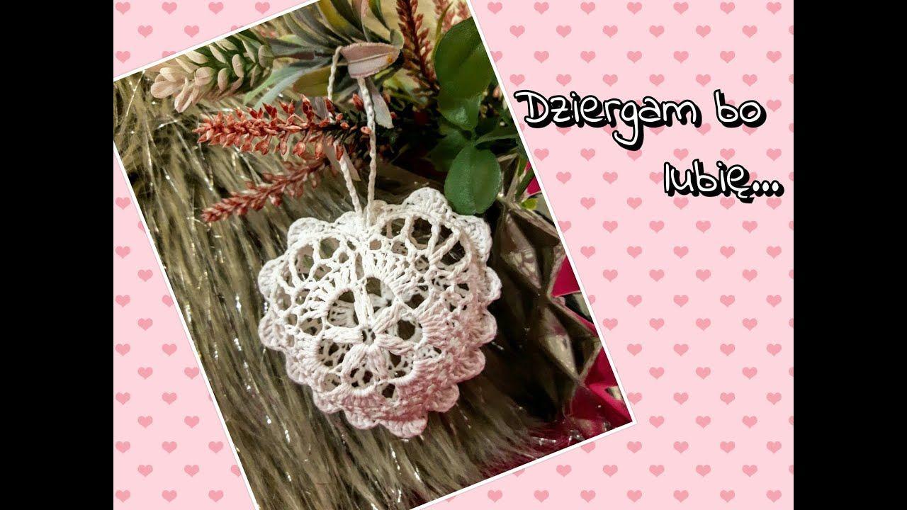Mini Serduszko Bombka Na Szydelku Youtube Crochet Necklace Crochet Crochet Earrings