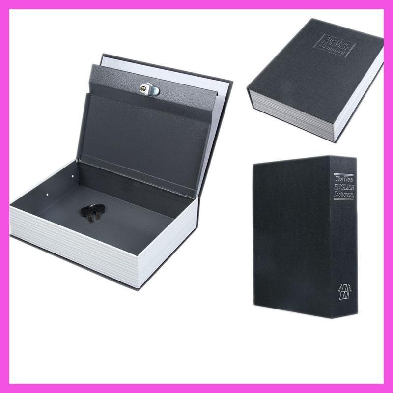 2017 Secret Box Book Safe with Key Lock Money Jewelry Safty