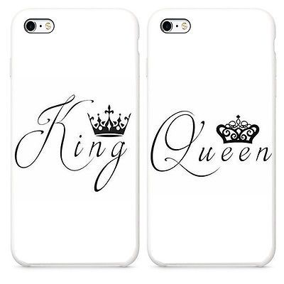 half off 198f6 ab793 KING QUEEN Best Friend 2X Case Cover For iphone 6 6S SE Plus 5S ...