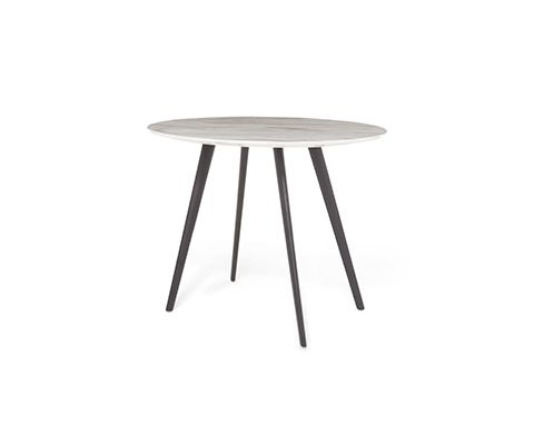 Buy Aerius Round Faux Marble Dining Table With Black Legs David