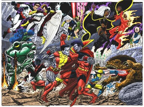 Versus Xmen And Imperial Guard Marvel Xmen Marvel Gladiator Marvel Comics Art