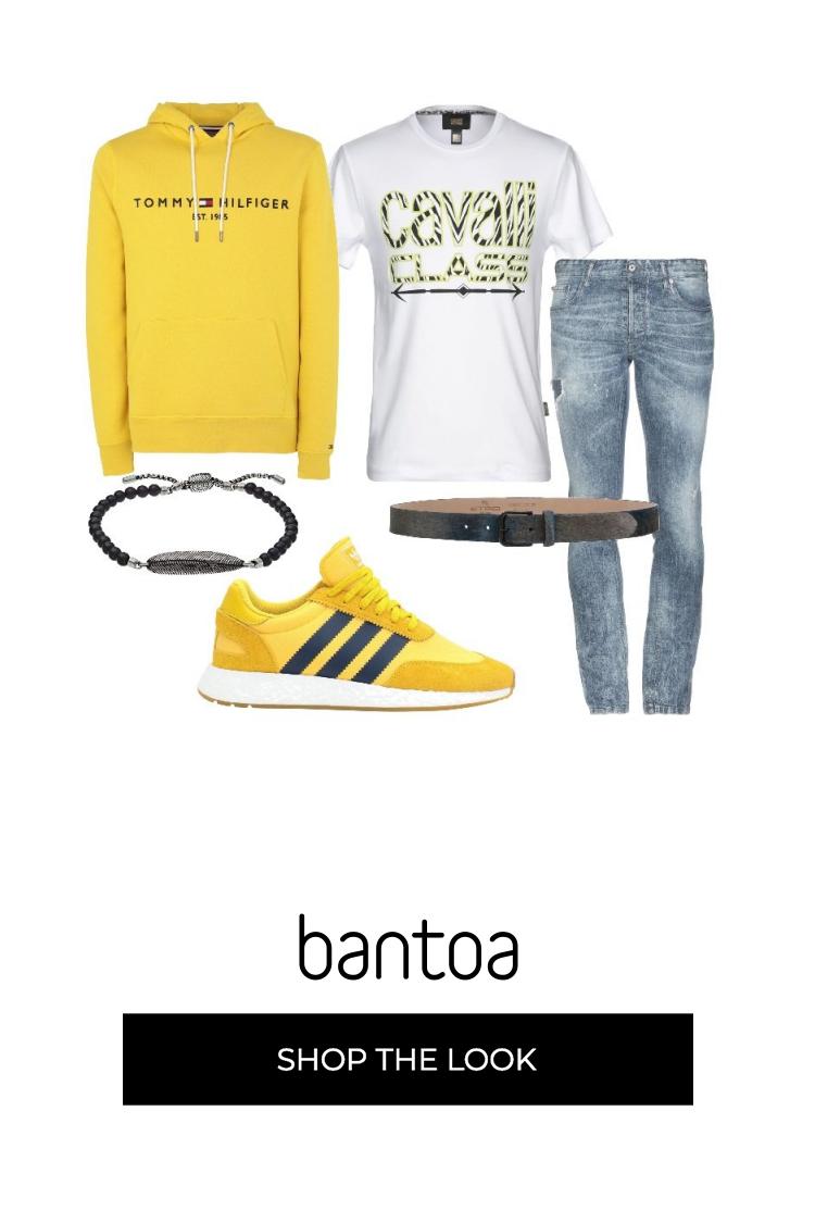 felpa gialla adidas uomo
