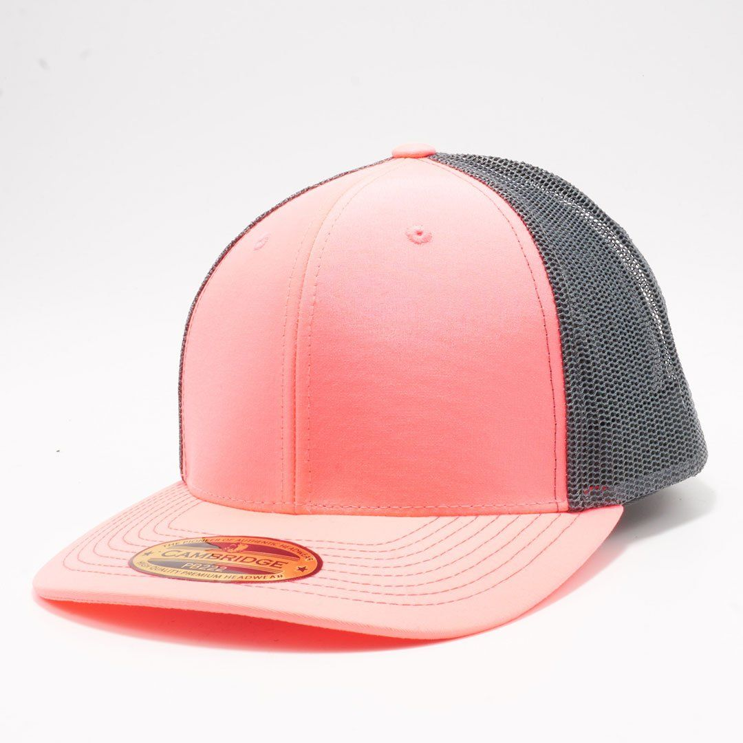 7fde34bcc6b ... Mesh Hat Cap Wholesale and Custom Embroidery. PB222 Pit Bull Neon  Cambridge Trucker Hat  N.Pink Charcoal