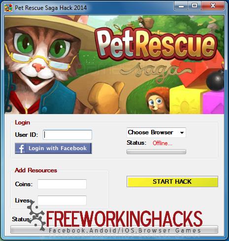 Free Working Pet Rescue Saga Hack Tool Cheat No Cost Pet Rescue Saga Animal Rescue Rescue