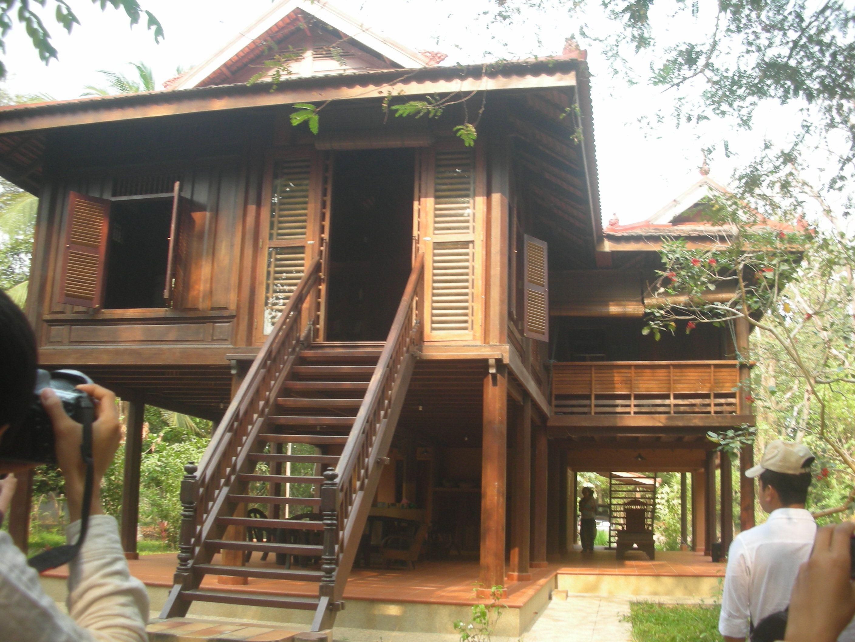 Khmer House Asian House, Thai House, Filipino House, Wooden House Design,  Jungle
