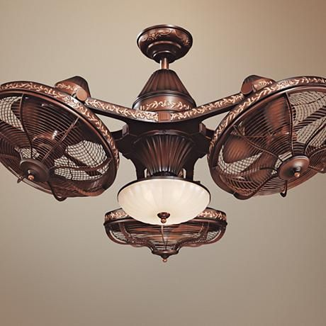 38 Quot Esquire Rich Bronze Finish 3 Head Ceiling Fan 99349