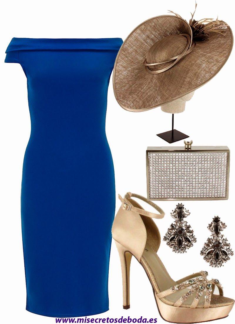 Color unas vestido azul klein