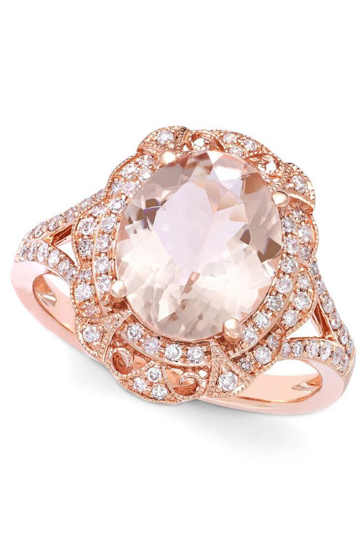 Blush Morganite Ring #sponsored
