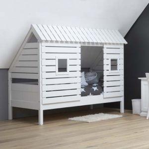 Spielbett Kinderbett BAUMHÜTTE für schräge Wände/Dachschrägen ...