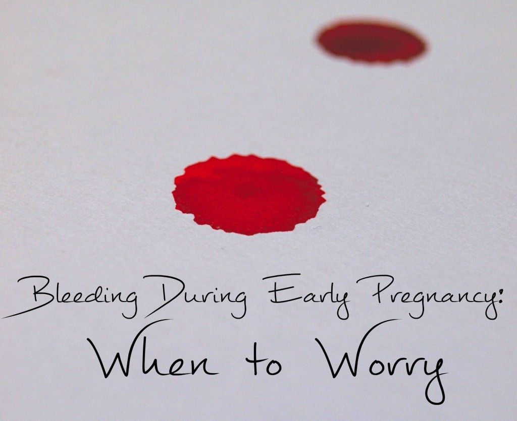 Bleeding isn't an uncommon occurrence during early pregnancy, but ...