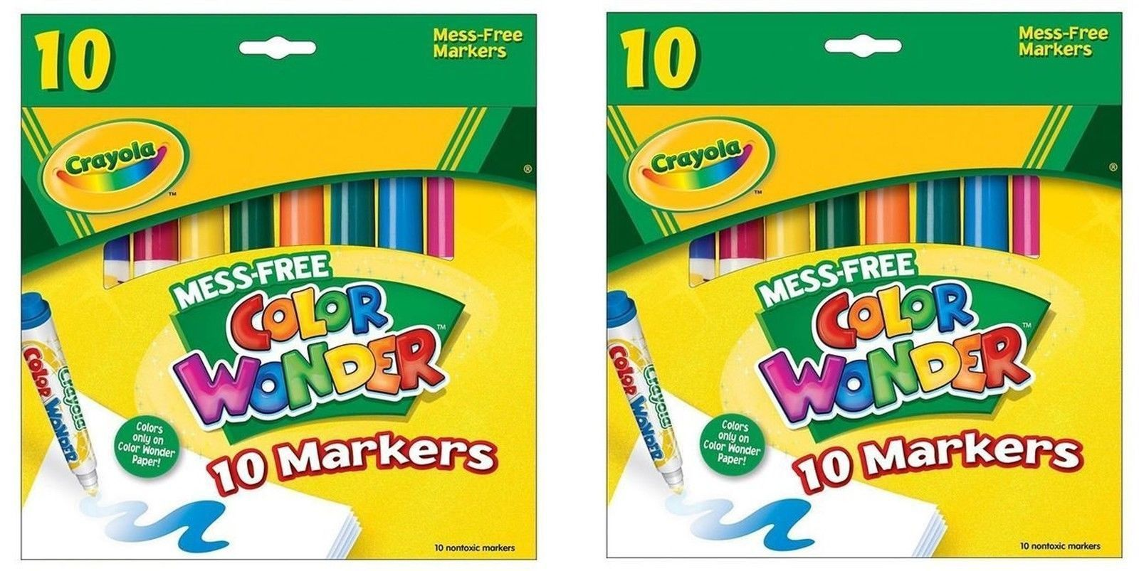 Color Wonder Mess Free Coloring Markers 10 Pack Mess Free Markers ...