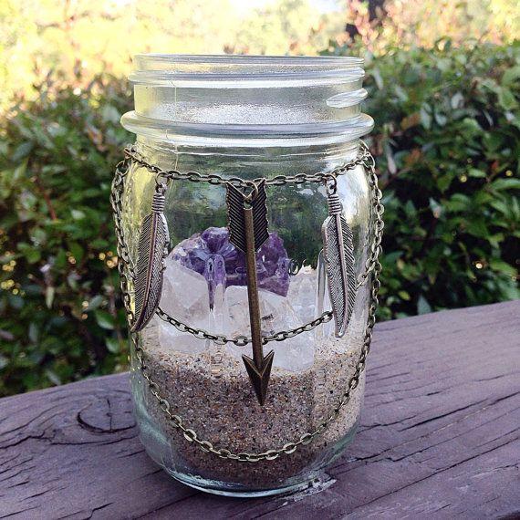Mason Jar Crystal Garden Mason Jar Decor Heal Crystal Set Zen Garden  Crystal Display Heal Crystals And Stones Om Meditation Stone Gypsy