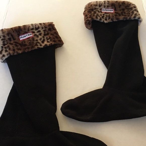 Hunter Boot Socks Cheetah/Leopard Print Size 8-10 Overall in very good used condition, very minor wear. Hunter Boots Accessories Hosiery & Socks