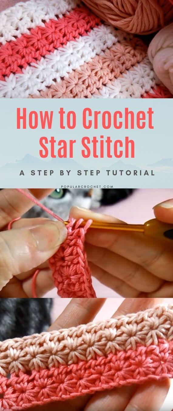 How to crochet Star stitch #crochetstitchespatterns