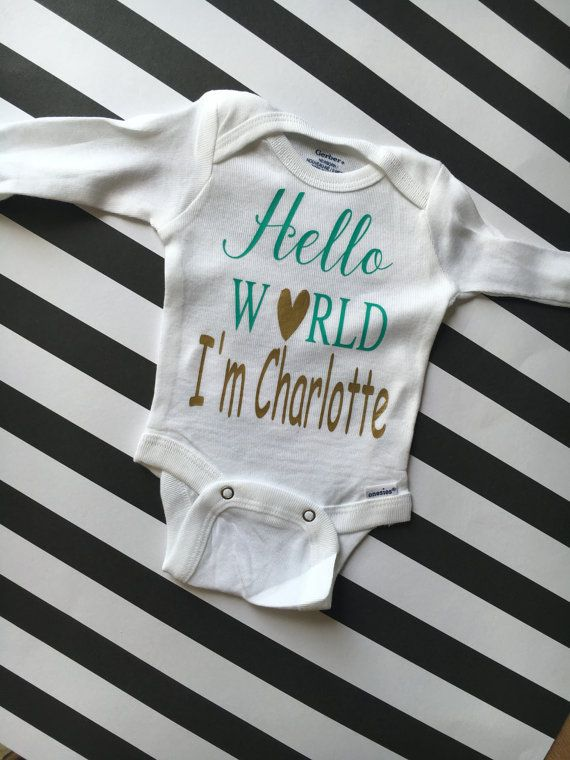 hello world I'm onesie customizable onesie by southernfriedmgrams