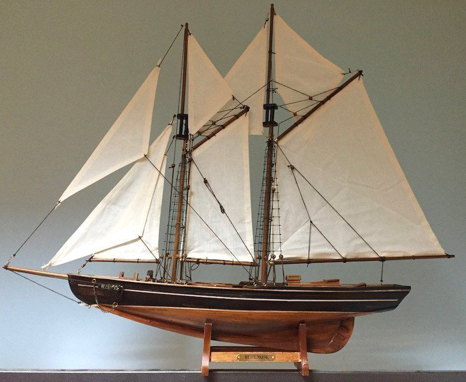 Fancy Wooden Sailing Boat Model Bluenose Ship Ship Model Decorative Collectible Nautical Decor Wooden Sail Model Sailing Ships Sailing Ships Model Sailboat