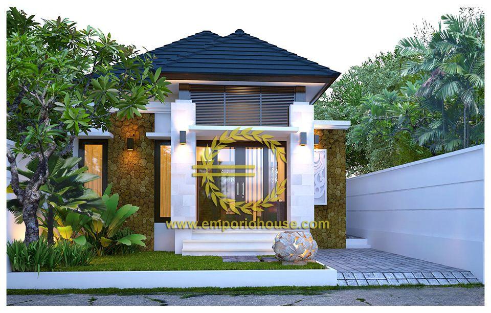 Desain Rumah 1 Lantai  2 kamar Lebar Tanah 9 meter dengan