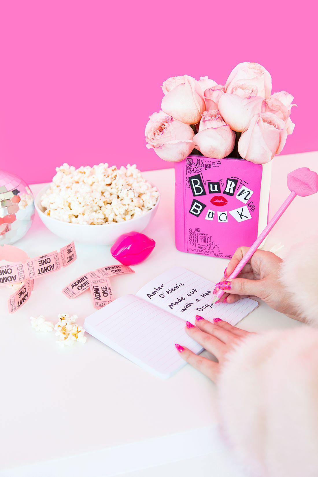 Movie Night! DIY Mean Girls Burn Book Vase Mean girls
