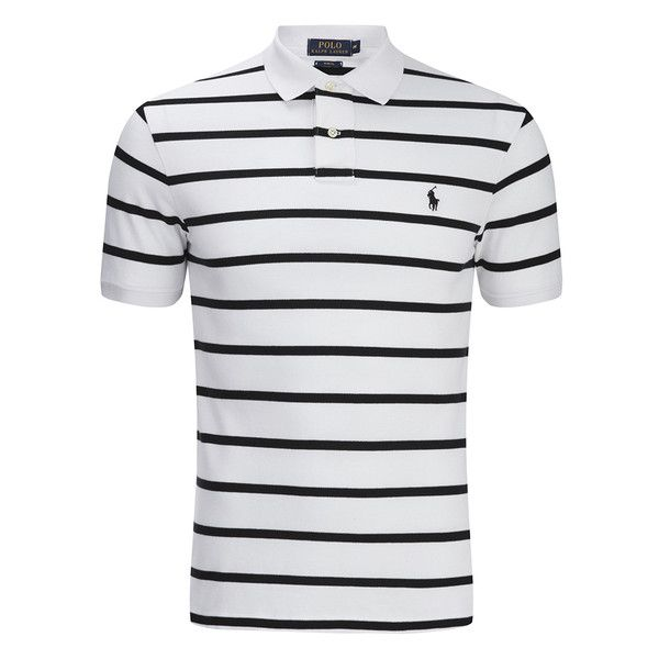 34f32312db34e Polo Ralph Lauren Men's Short Sleeve Slim Fit Striped Polo Shirt ...