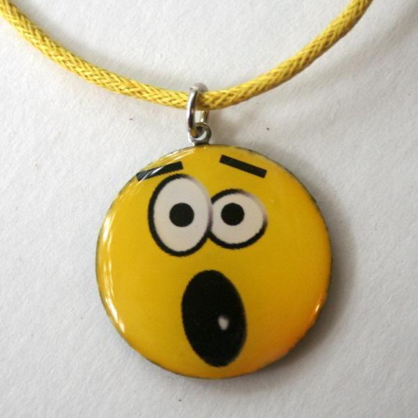 "Emoticon ""Oh, no!"" Pendant Necklace $12 by Lingo on #zibbet"
