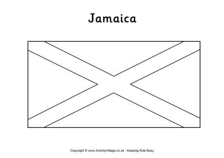 Jamaica Flag Colouring Page Flag Coloring Pages Jamaica Flag