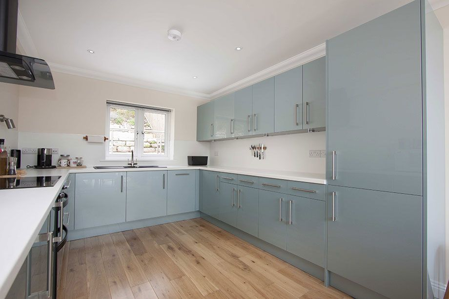 Metallic Blue Kitchen Units Google Search With Images
