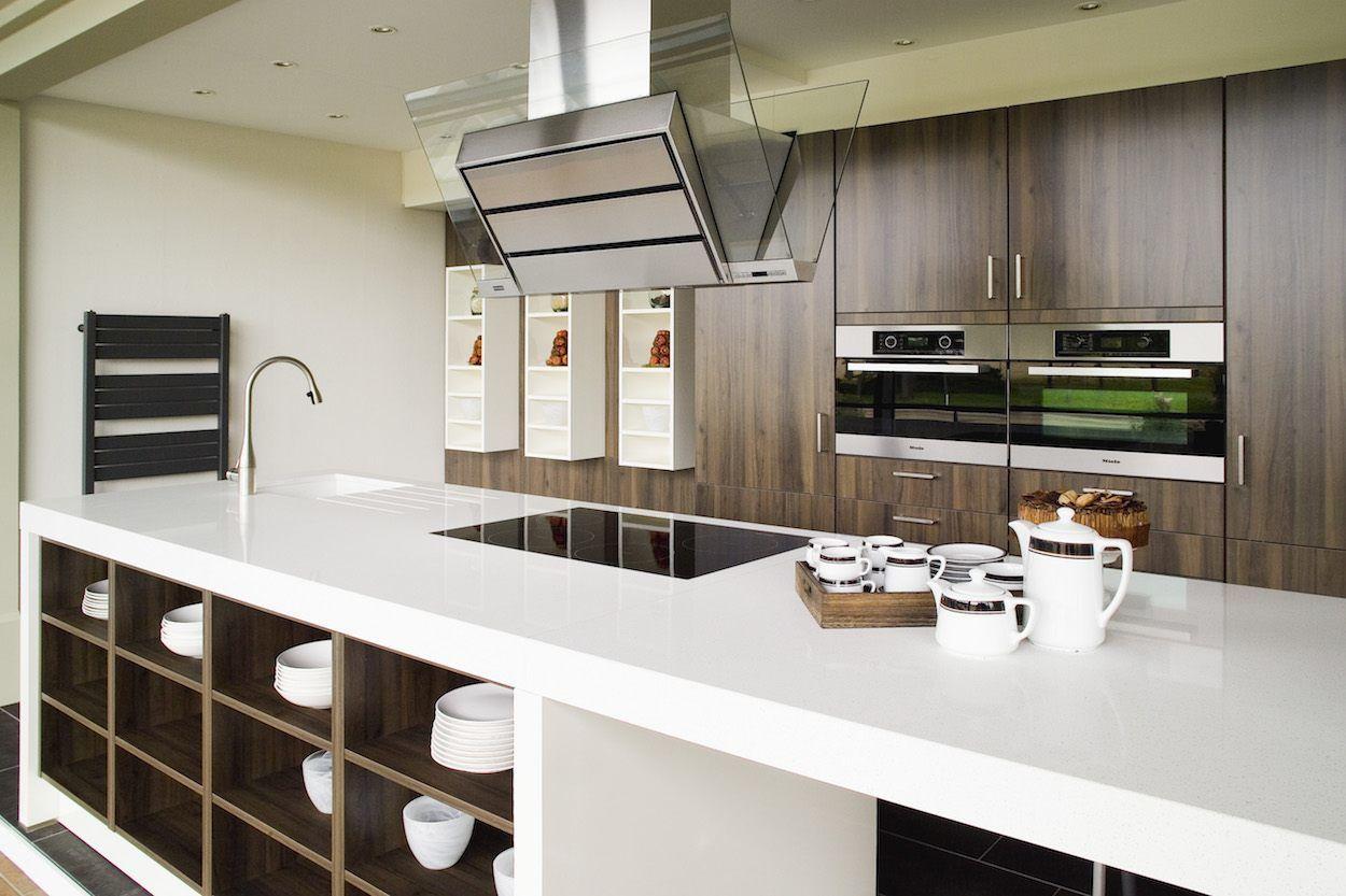 Werkblad ikea in composiet wit op maat gemaakt door k keukens