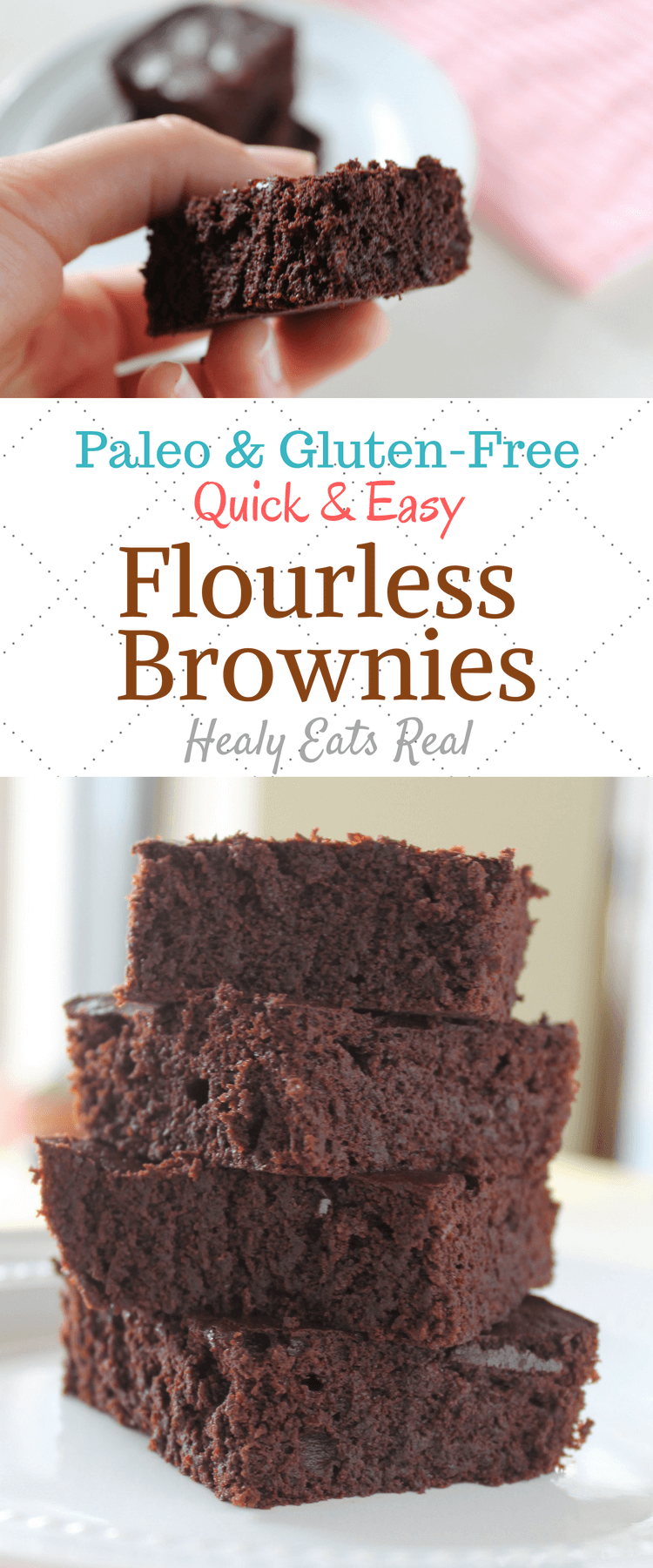 Healthy Flourless Brownies Flourless Brownies (Paleo, Gluten Free, Dairy Free) These healthy delicious chocolate brownies can be made in under 30 minutes! So easy!Flourless Brownies (Paleo, Gluten Free, Dairy Free) These healthy delicious chocolate brownies can be made in under 30 minutes! So easy!