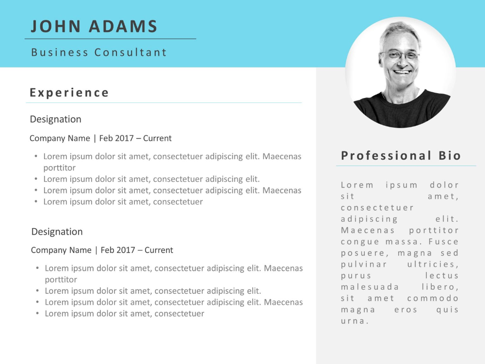 resume powerpoint template professional 2  powerpoint