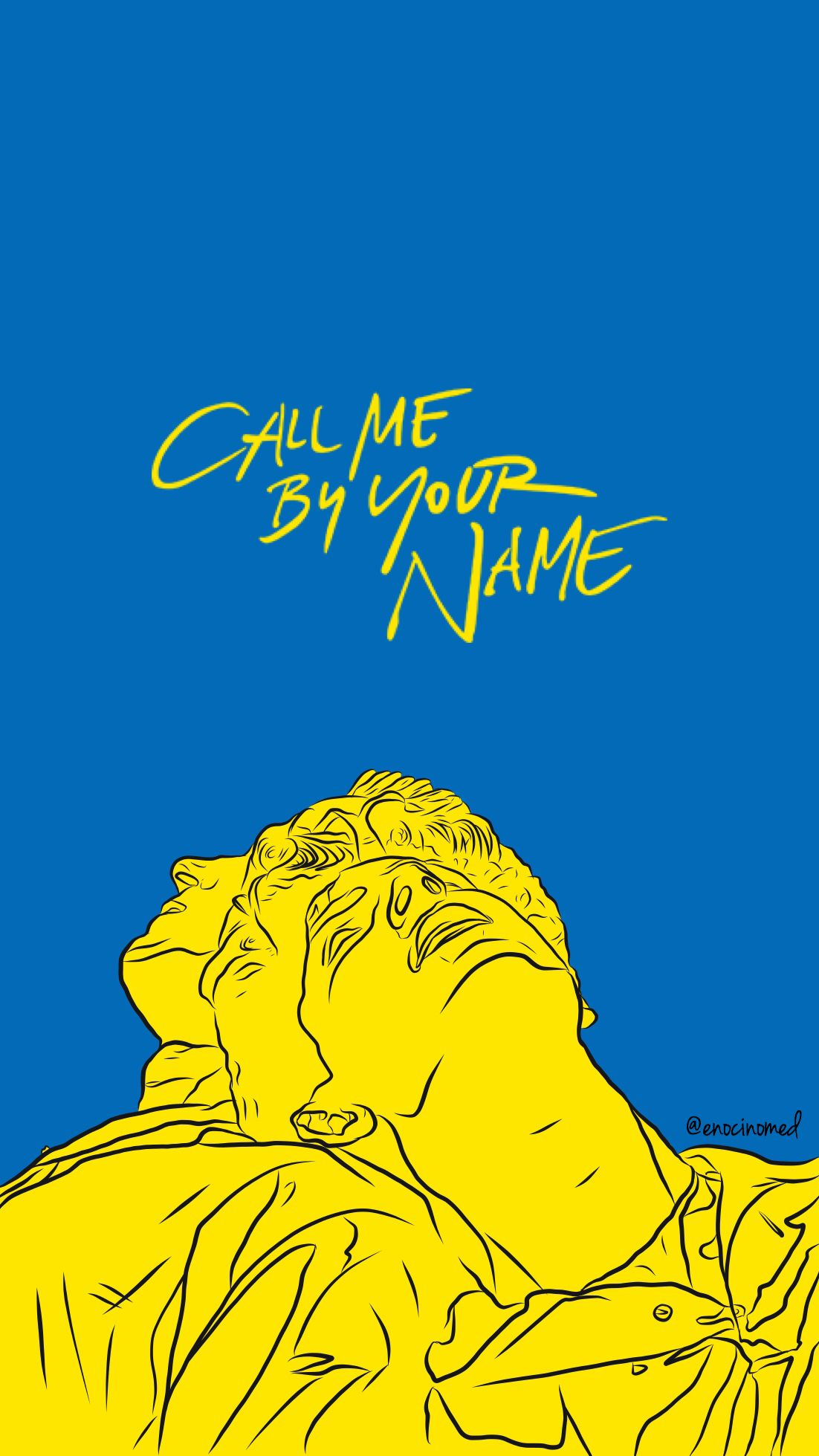 Call Me By Your Name Wallpaper Elio And Oliver Enocinomed Name Drawings Your Name Movie Name Paintings