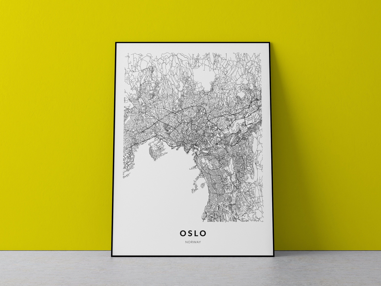 Oslo Map Print Oslo Download Map Oslo Map Oslo PRINTABLE Map Oslo Street Map Map Of Oslo Oslo Print