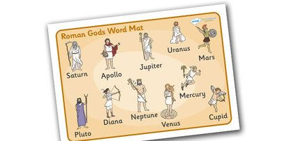 Roman Gods Word Mat - Romans, Rome, Roman Empire, colosseum, word ...