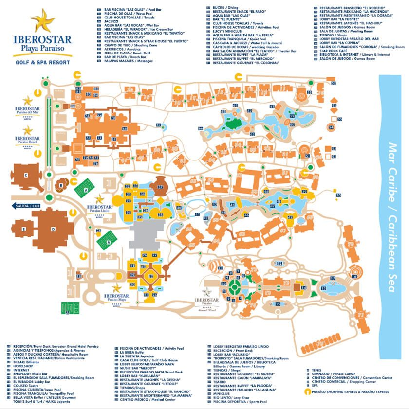 Riviera Maya Allinclusives The Is Sprinkled With: Map Of Iberostar Hotels In Riviera Maya At Slyspyder.com