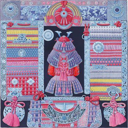 db03fa642563 Commandez en ligne dès aujourd hui le produit Parures de Samouraïs sur la  boutique officielle Hermès - La Maison des Carrés - et offrez vous le  plaisir ...