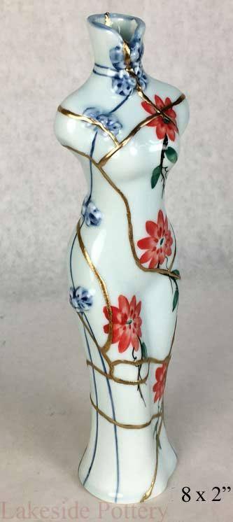 Kintsugi Woman Figure Vase Kintsugi Pottery For Sale Buy