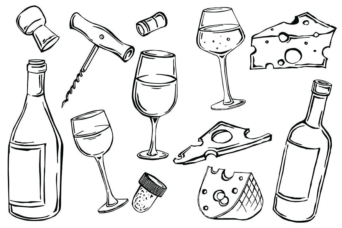 Vector Wine Wine Bottle Drawing Bottle Drawing Wine Bottle