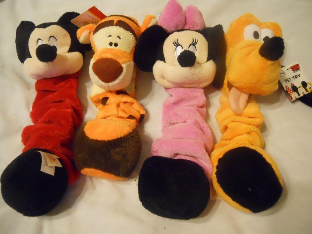 Disney Dog Toy Mickey Minnie Goofy Tigger Squeaky Chew Toy New
