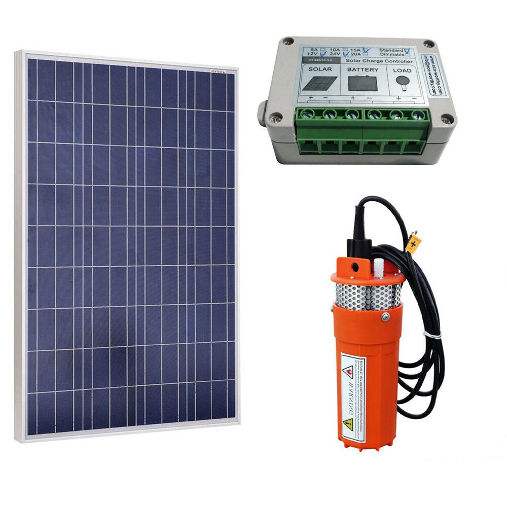 100w Solar Panel With 12v Deep Well Water Pump For Home Irrigation Ranch Farm Solar Powered Water Pump Solar Water Pump Water Pump System
