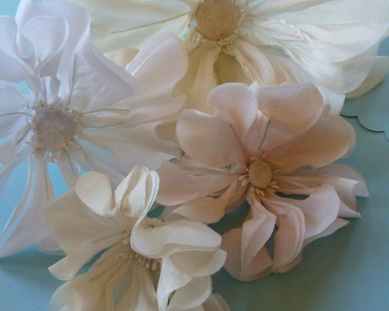 Poppy Silk Flower in Ivory for Bridal, Millinery, Fascinators, Sashes, Corsages. $9.95, via Etsy.