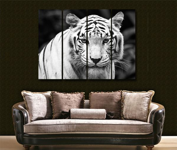 I Want The White Tiger In My Room Cuadros Animales Colores White tiger living room decor