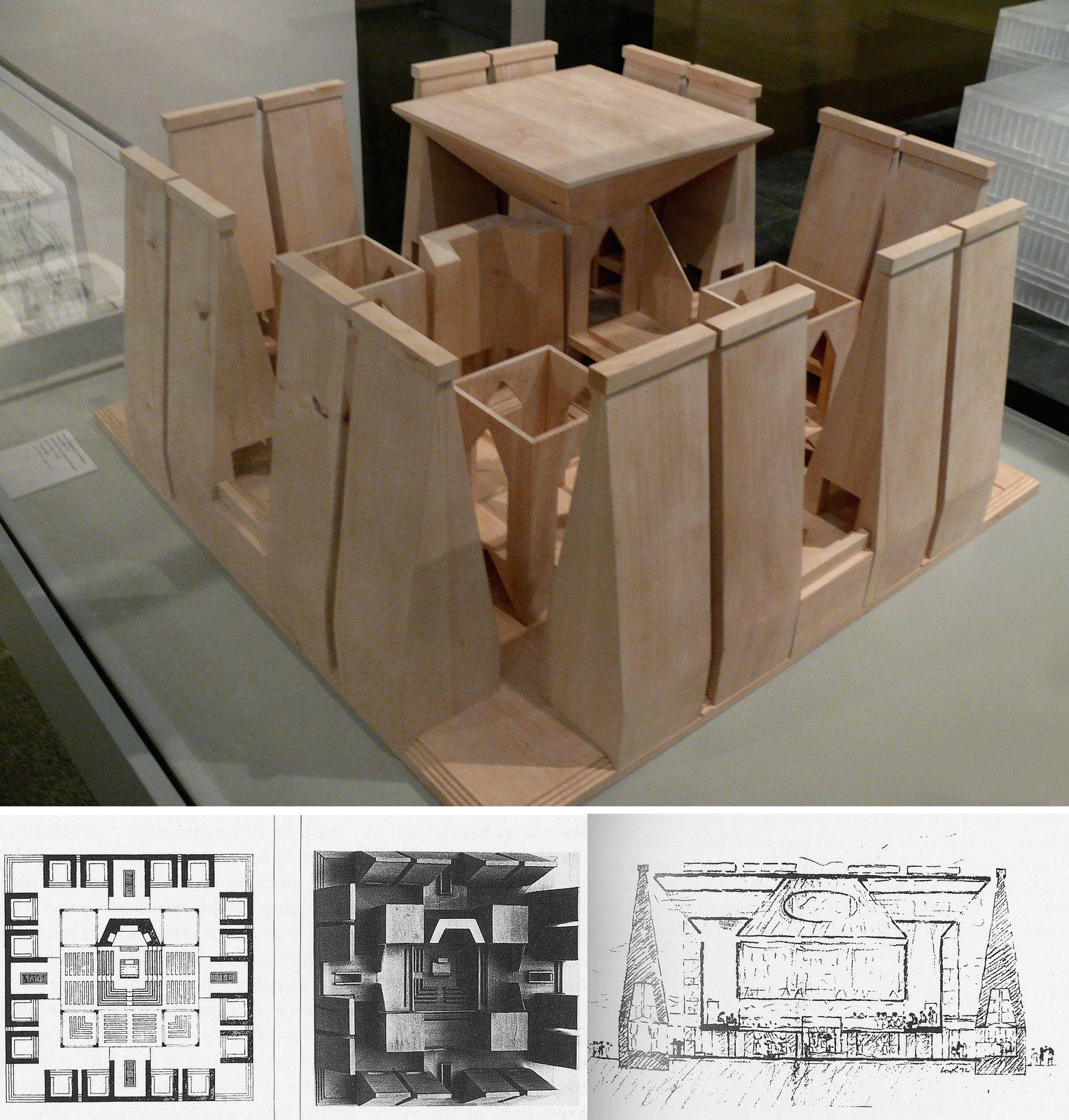 Hurva synagogue jeruslem by louis kahn maquetas for Arquitectura moderna planos