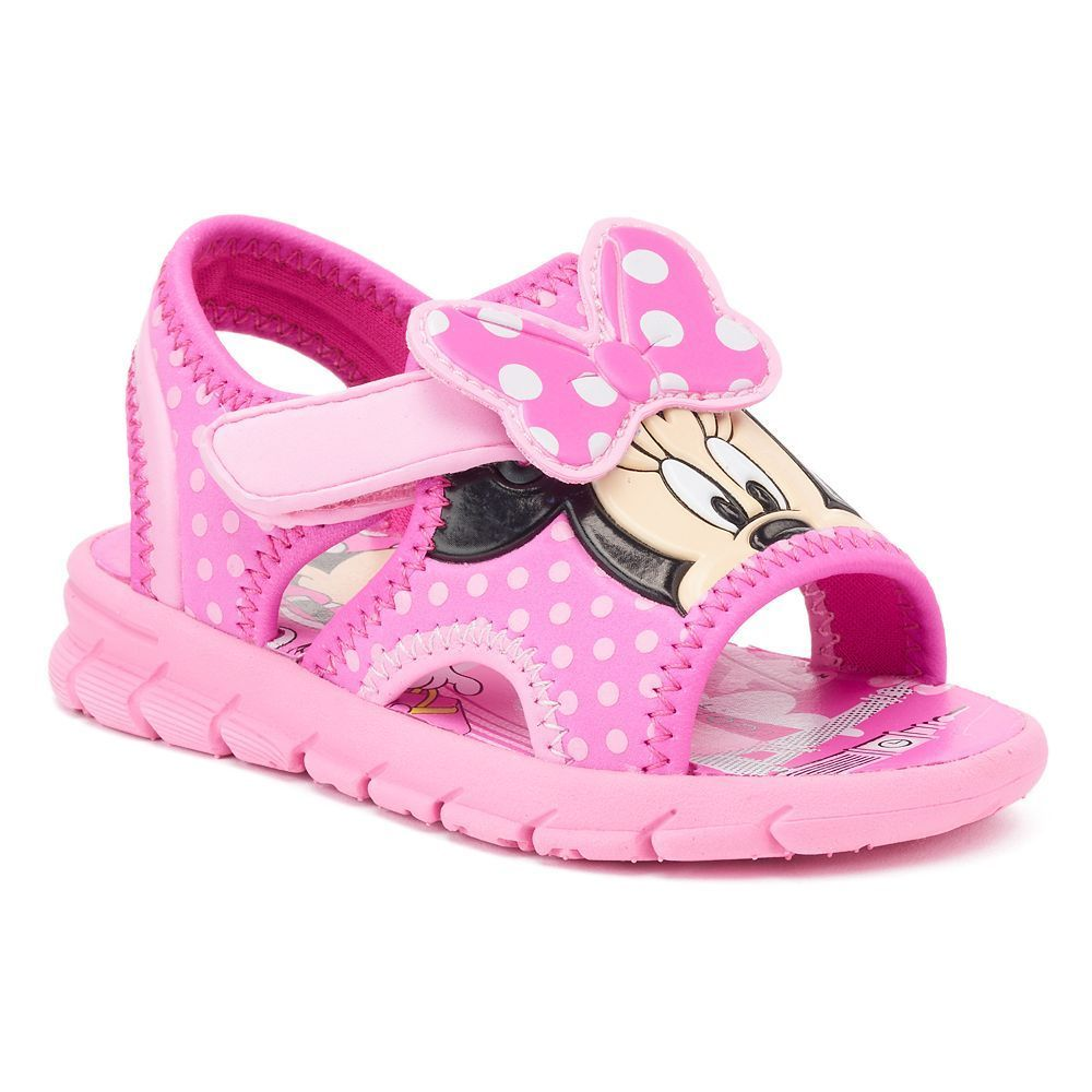 Disney Minnie Mouse Toddler Girls' Polka Dot Sandals