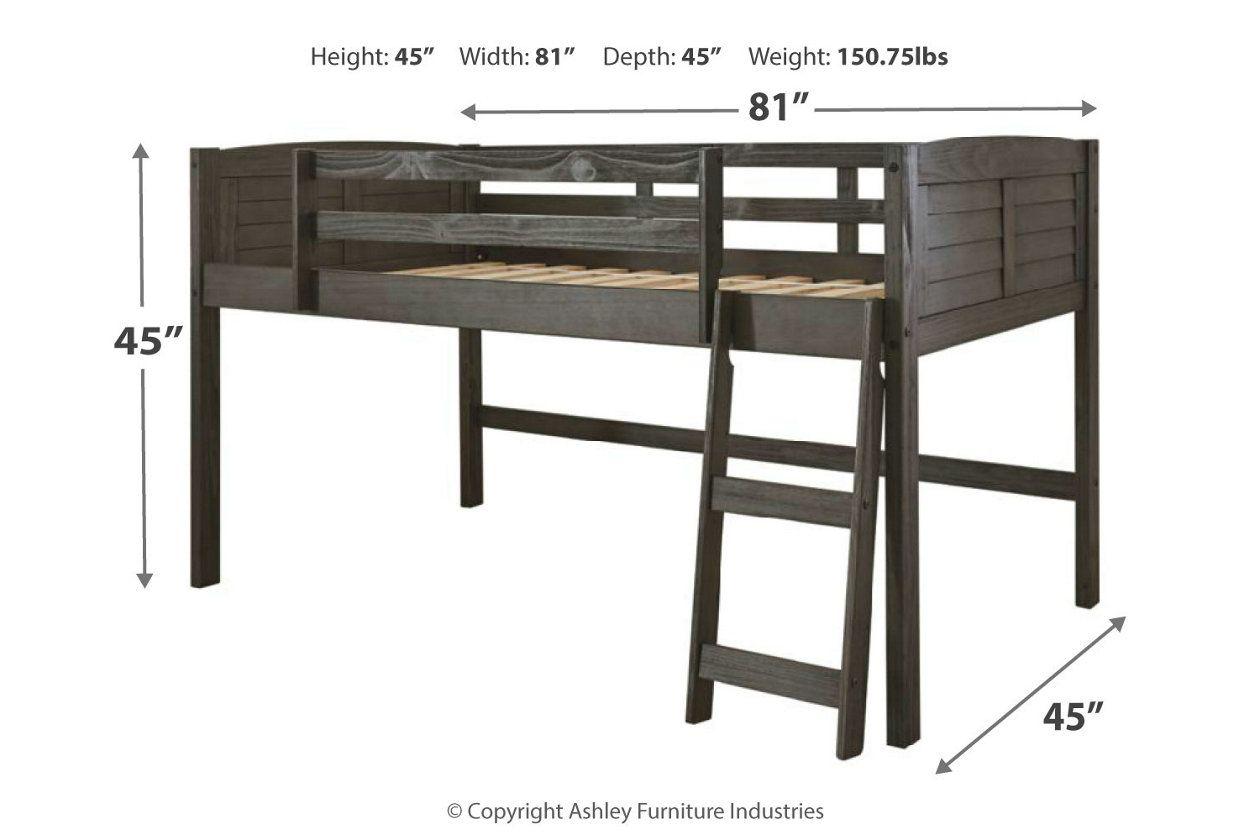 Caitbrook Twin Loft Bed Frame Ashley Furniture Homestore Loft